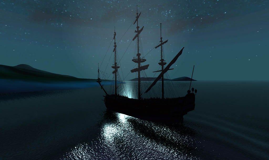 星空下的海