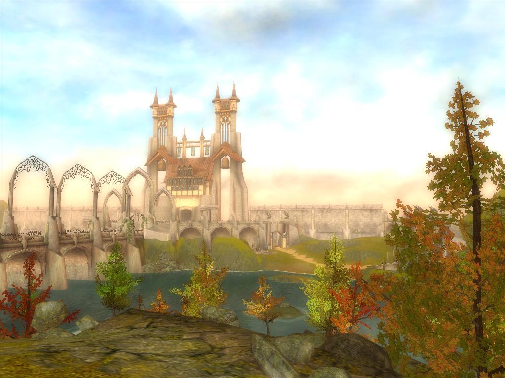 桌面壁纸城堡-城堡的护城河