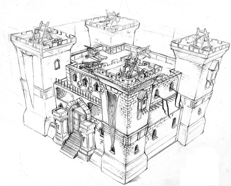 迪士尼公主城堡简笔画-迪士尼公主图片简笔画-迪士尼城堡图片儿童画
