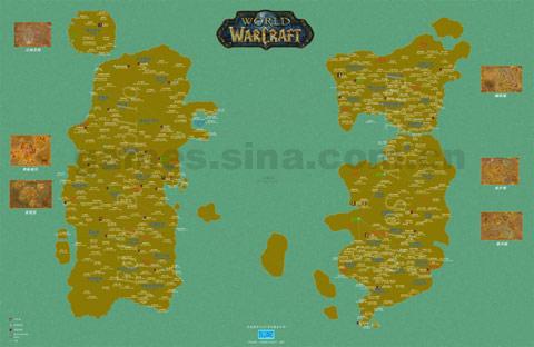 魔兽世界 综合经验 >> 正文    超大清晰双语版魔兽世界全手绘地图
