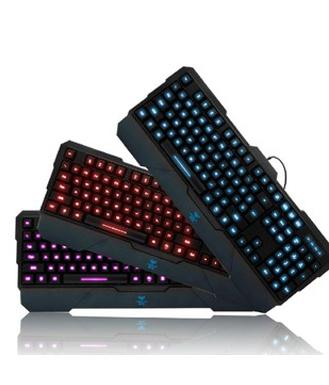 狼蛛龙牙升级版龙牙二代 龙牙2代 三色背光游戏键盘