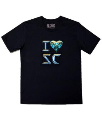 星际争霸2(Starcraft2) T恤 I love SC T恤-神族