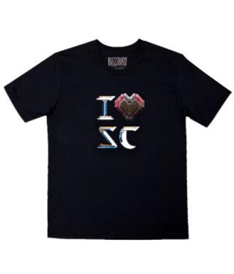 星际争霸2(Starcraft2) T恤 I love SC T恤-人族