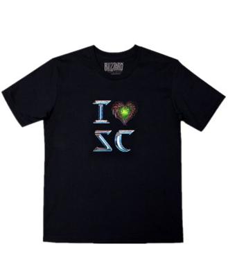 星际争霸2(Starcraft2) T恤 I love SC T恤-虫族