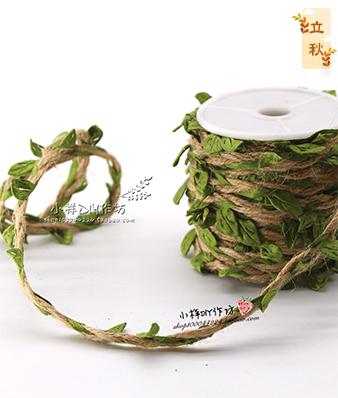 森系树叶麻绳