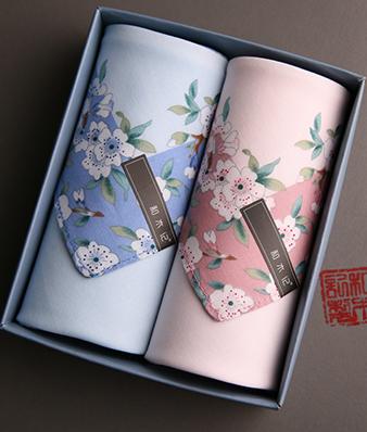 纯棉樱花手帕