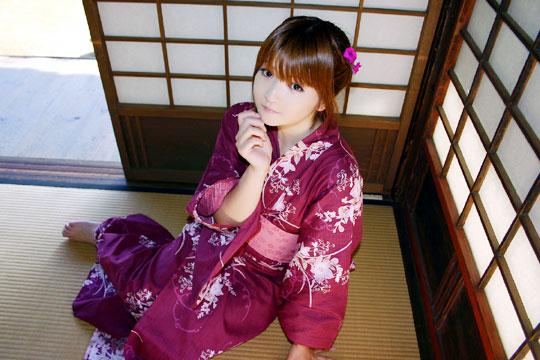 日本浴衣美女