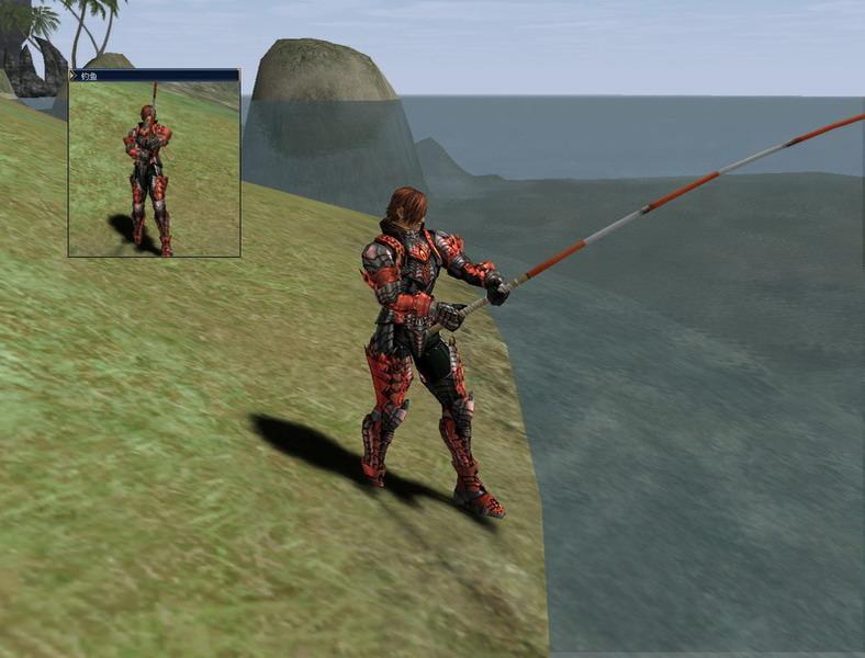 抛竿钓鱼   在四章《王者归来》,玩家能在各城的杂货店或港口附近找到被称为钓鱼会员的NPC,他们向玩家兜售包括钓竿、钓饵在内的渔具,同时也教授玩家钓鱼技能。 若是玩家打算在《天堂II》一享渔趣,首先便要准备好钓竿及钓饵,并支付一定金币给钓鱼会员,习得最基本的钓鱼技能。需要注意的是,钓竿和钓饵有普通/D/C/B/A/S的级别,如果角色装备了与等级不符的钓竿,在钓鱼时将受到等级惩罚。   《天堂II》的鱼场并没有太大的限制,一般来说,凡是有肺活量标示的岸边或类似温泉地带,有着特殊水质的地点,都有许多鱼可钓