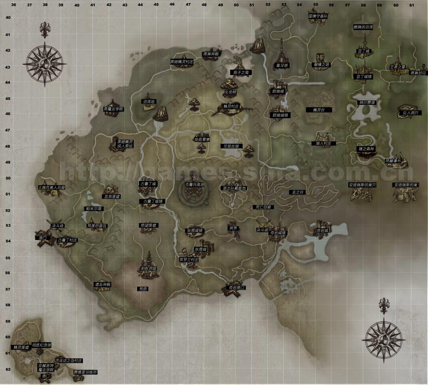 天堂2地图