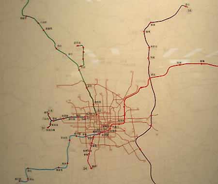 图文:北京城市总体规划成果展-市郊铁路规划