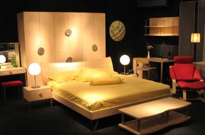 曲美简洁风格睡床-中国室内设计师网; 组图:曲美简洁风格睡床(1)
