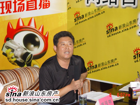 市建委开发办领导杨强林发言