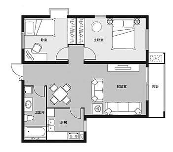 长条形房子厨房连卫生间设计图展示