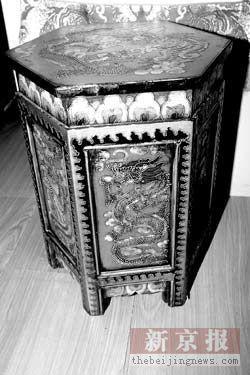 中式风格的手绘家具
