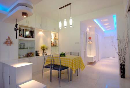 一体式厨房餐厅风水1,进门见餐桌不吉利,与厨房共享一室不佳.图片