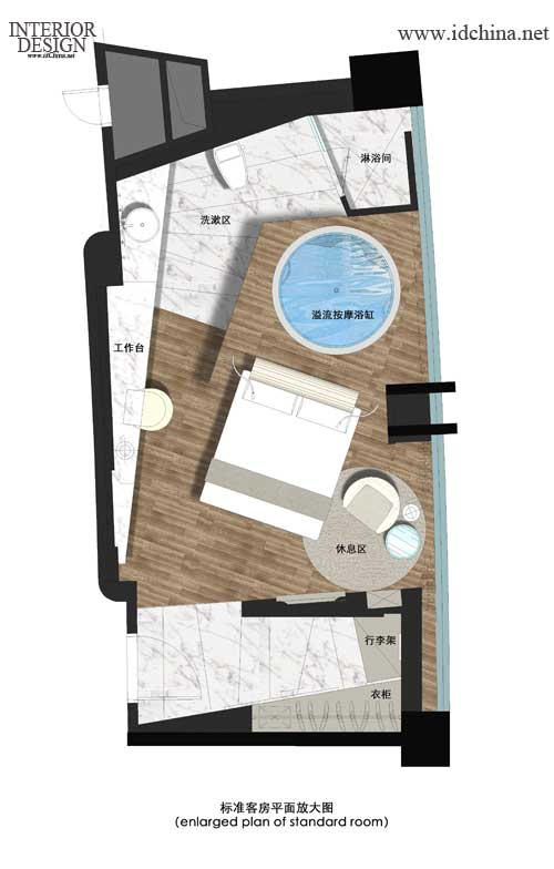 酒店设计大师赛:杨邦胜作品--平面图