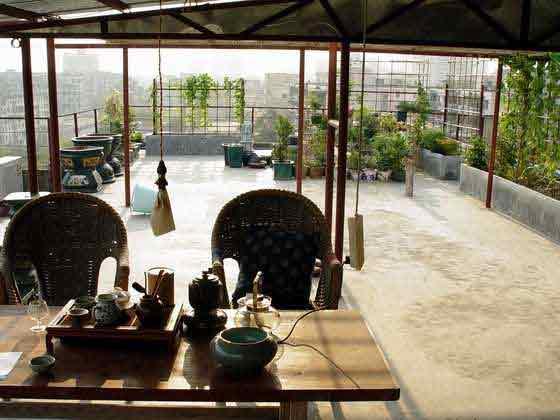 楼顶茶室装修效果图