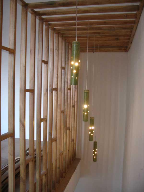 幼儿园楼梯竹子布置