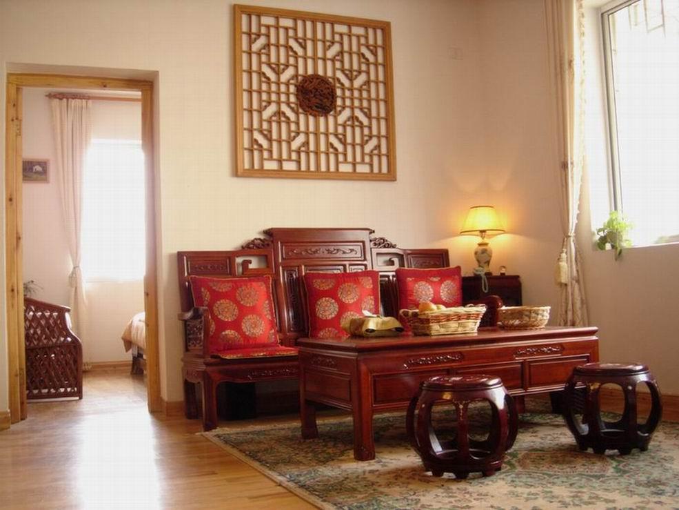 客厅红花梨木沙发图片