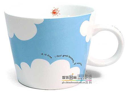 组图:韩国超级可爱的q版杯子--蓝天白云(4)