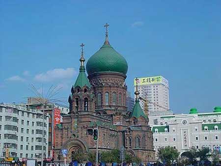 组图:中国各城市标志性建筑-哈尔滨索非亚教堂