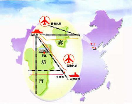 图文:河北廊坊市区位图