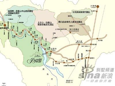 野三坡风景名胜分布图