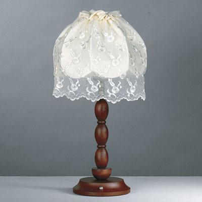 组图:欧式风情的古典台灯--蕾丝台灯