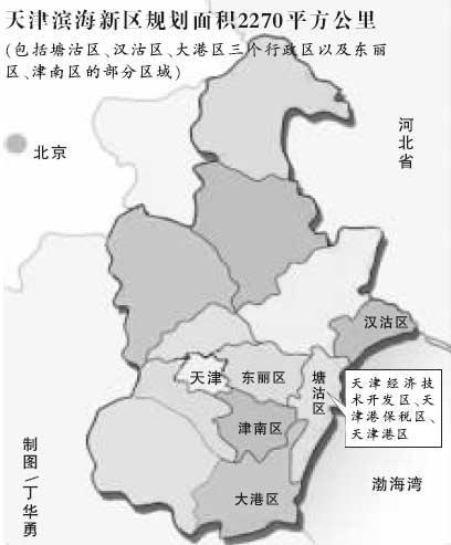 滨海新区规划图