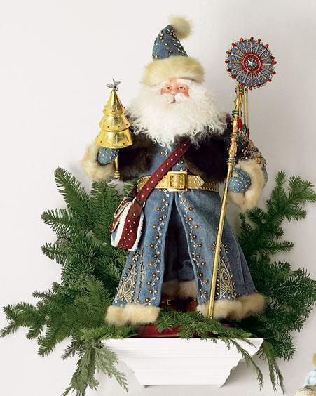 百变笑脸圣诞老人装扮节日 西部牛仔 组图