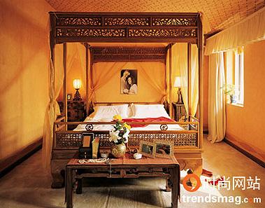 欧式装修橙色卧室