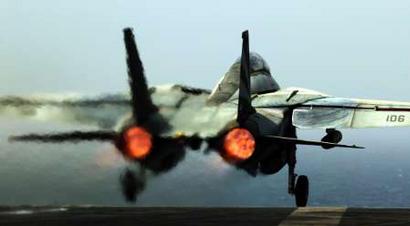 战斗机在航母上起飞