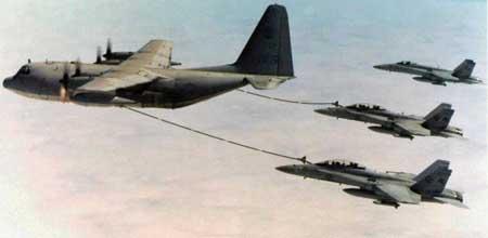 美KC-130型空中加油机-美军计划08年向日本冲绳部署新型加油机