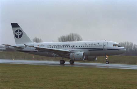 空中客车a319型飞机   a319在双座客舱布局中可