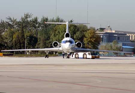 摄影 首都机场/图154机头正面特写摄影:超侧卫