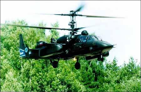 俄军方宣布卡-52直升机测试工作将于明年完成