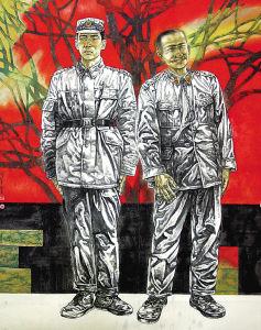 军旅国画家作品选图片