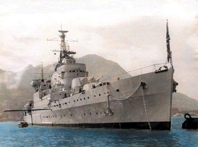二战中英国南安普敦级轻巡洋舰简史(组图)