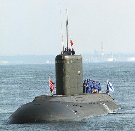 印度海军改造潜艇安装俄制潜射巡航导弹(图)