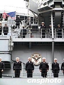 美军第七舰队旗舰28日访问广东湛江南海舰队