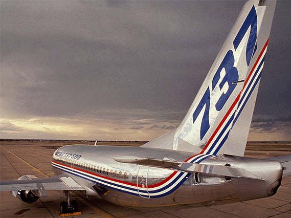 资料图片:波音737-500飞机