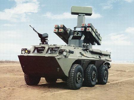 以wz551型6×6装甲人员输送车为底盘的