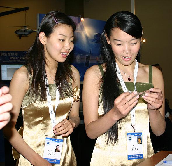 图文:欧洲EADS公司展台礼仪小姐