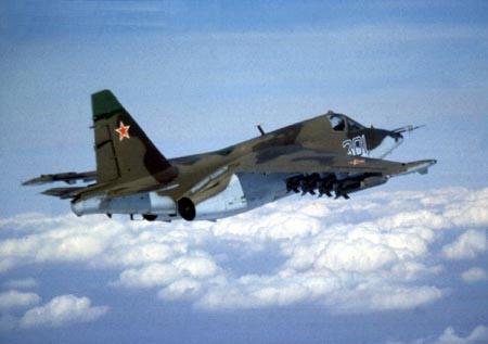 俄空军一架苏-25强击机在塔吉克斯坦坠毁(组图)