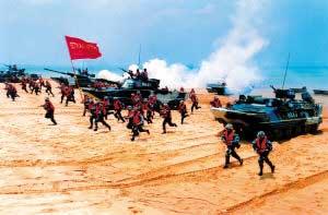 中国海军陆战旅野外驻训锻造两栖作战尖兵(图)