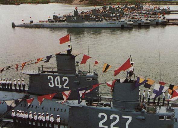 图文:中国海军海军明级潜艇基地