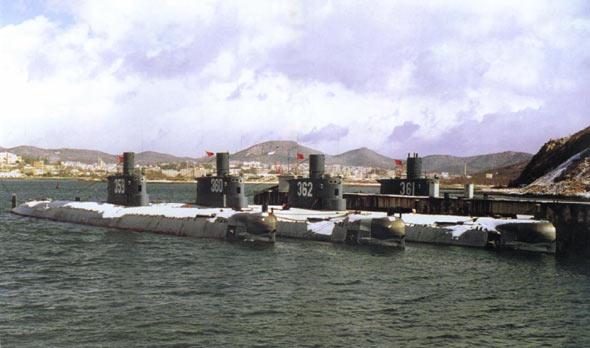 图文:中国海军明级常规动力潜艇基地