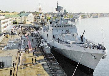 印度海军锋利之剑:塔尔瓦级隐身护卫舰(组图)