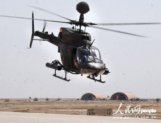 美国陆军OH-58D基奥瓦勇士武装侦察直升机(图)