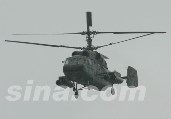 图文:俄卡-29战斗运输直升机正面特写